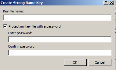 Create Strong Name Key